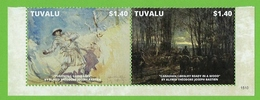 2 Timbres TUVALU Guerre Mondiale - WO1