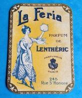 PARFUM Parfumerie Rare Carte Parfumée Parfum LENTHERIC Danseuse Paris Rue St Honoré La Féria - Perfume Cards