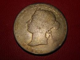 Canada - 50 Cents 1870 Sans Signature Sous Le Buste Victoria - Rare 3863 - Canada