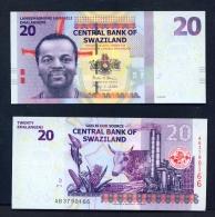 SWAZILAND  -  2017  20 Lilangeni  UNC  Banknote - Swaziland