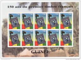Guinée Guinea 1999 Mi. 2464 Feuillet Kleinbogen 150 Ans Du Premier Timbre Français Joint Issue Emission Commune RARE !! - Guinea (1958-...)