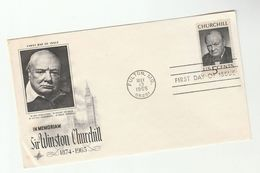 1965 Fulton USA FDC Winston CHURCHILL Stamps Cover - First Day Covers (FDCs)