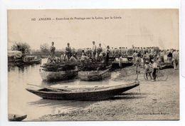 - CPA ANGERS (49) - Exercices De Pontage Sur La Loire, Par Le Génie (belle Animation) - Collection A. Bruel 102 - - Angers