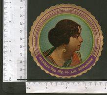 India Vintage Trade Label Aryodaya SPG WG Co. Ltd Ahmedabad Label Women # LBL120 Inde Indien - Etiketten