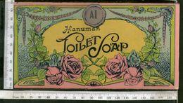 India Vintage Trade Label Hanuman Toilet Soap Label Rose Flowers # LBL125 Inde Indien - Etiquettes