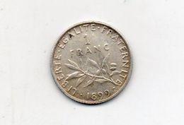 France. 1 Franc 1899 - H. 1 Franc