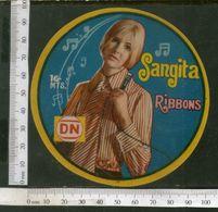India Vintage Trade Label Sangita Ribbons Label Lady Women # LBL124 Inde Indien - Labels