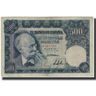 Billet, Espagne, 500 Pesetas, 1951-11-15, KM:142a, TB - [ 3] 1936-1975 : Regency Of Franco