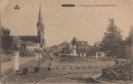 CPA - AK Kortrijk Courtrai Volkspark En Sint Eligius Kerk Westflandern A Harelbeke Mouscron Wevelgem Waregem Menen Ypern - Kortrijk