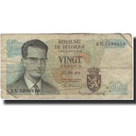 Billet, Belgique, 20 Francs, 1964-06-15, KM:138, AB+ - [ 6] Tesoreria