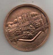 Médaille En Bronze. L'ile De La Cité. Paris. Frappe Moderne Monnaie De Paris - France