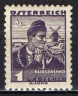 AUSTRIA - 1934 - BURGENLAND - MH - Ungebraucht