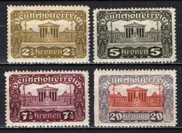 AUSTRIA - 1919 - PALAZZO DEL PARLAMENTO DI VIENNA - MNH - Ungebraucht