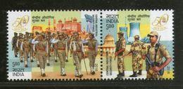 India 2018 Central Industrial Security Force Military Police 2v Setenant MNH Inde Indien - Police - Gendarmerie