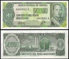 Bolivia 50000 Pesos Bolivianos 1984 P 170 UNC Serie A BOLIVIE,  BOLIVIEN - Bolivie