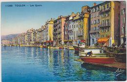 83,CARTE POSTALE ANCIENNE,TOULON EN 1935,VAR,PORT,COMMERCE,ME TIER,PECHEUR AU TRAVAIL,QUAIS - Toulon