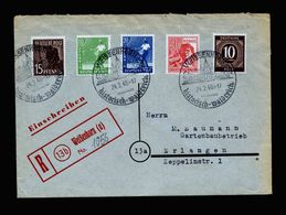 A5321) Kontrollrat R-Brief Weißenhorn 24.2.48 Mit Vorgedrucktem R-Zettel - Bizone