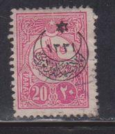 TURKEY Scott # B8 Used - With Overprint - War Orphins - 1858-1921 Empire Ottoman
