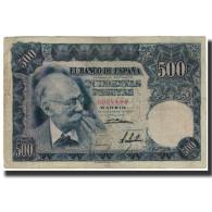 Billet, Espagne, 500 Pesetas, 1951-11-15, KM:142a, TTB - [ 3] 1936-1975: Regime Van Franco