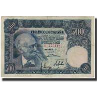 Billet, Espagne, 500 Pesetas, 1951-11-15, KM:142a, TB+ - [ 3] 1936-1975 : Regency Of Franco