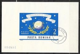 Roumanie Bloc Feuillet N°57  Conquête De L'Espace  Oblitéré 1er Jour Le Bucarest 20/01/1964   Soldé ....... - Space
