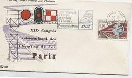 CONGRES INTERNATIONAL DES CHEMINS DE FER  (Yv. N° 1488) 1er Jour; Flamme SECAP Concordante . PARIS/ 1966 - 1960-1969