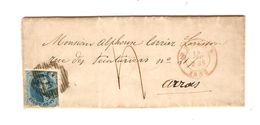 TP 7 S/LAC C.Bruges 18/12/1853 + Obl.à Barres 23 V.Arras Taxé AP2007 - Postmark Collection