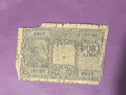 Italie10 Lire 1992  P33b Circulé - [ 1] …-1946 : Kingdom