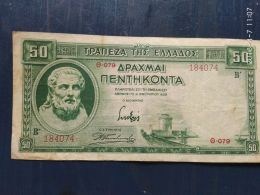 50 Drakme 1939 - Grecia