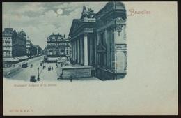 BRUXELLES = BOULEVARD ANSPACH ET LA BOURSE - Avenues, Boulevards