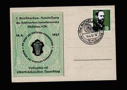 A5332) Bund Sonderkarte Michelau 14.4.57 M. Mi.252 - Briefe U. Dokumente