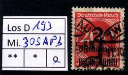 Los D193: DR  Mi. 309 APb, Gest. - Deutschland