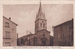 H4 - 43 - Saint-Didier-en-Velay - Haute-Loire - Place De L'Eglise - N° 12456 - Saint Didier En Velay