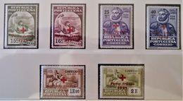 TIMBRES DE FRANCHISE - CAMOENS SURCHARGES CROIX-ROUGE 1928 - NEUFS ** - YT 32/37 - RARES EN QUALITE NEUFS ** - 1910-... République
