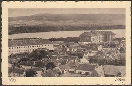 Látkép, Tata, Komárom-Esztergom, 1936 - Adolf Lindenberg Levelezőlap - Hungary