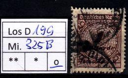 Los D199: DR  Mi. 325 B, Gest. - Deutschland