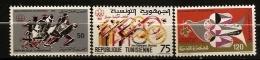Tunisie 1976 N° 833 / 5 ** Sport, JO, Jeux Olympiques, Oiseau, Montréal, Nadia Comaneci, Athlétisme, Football, Cyclisme - Tunisia