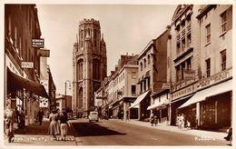 "07603 ""BRISTOL - PARK STREET - K. 3330"" ANIMATA, AUTO, VERA FOTOGRAFIA. CART  SPED 1956 - Bristol"