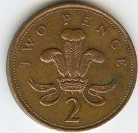 Grande Bretagne Great Britain 2 Pence 1998 KM 987 - 1971-… : Monnaies Décimales