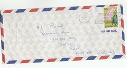 1978 Air Mail BARBADOS COVER Stamps Phalaenopsis ORCHID Flower Flowers Orchids SLOGAN BARBADOS SUNSHINE Weather - Barbades (1966-...)