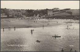 The Beach, Porth, Newquay, Cornwall, C.1960 - Overland Views RP Postcard - Newquay