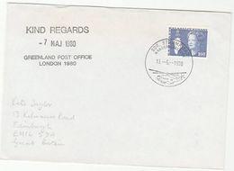 1980 GREENLAND Post Office At LONDON 1980 PHILATELIC  EXHIBITION COVER Aviation Helicopter Pmk Stamps - Esposizioni Filateliche