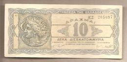 Grecia - Banconota Circolata Da 10.000.000.000 Dracme P-134a - 1944 - Grecia