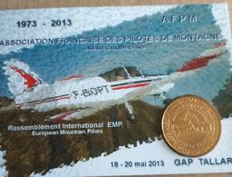 JETON TOURISTIQUE ENCART N°484 - - Afpm 43° Rassemblement Emp Gap Tallard - Monnaie De Paris