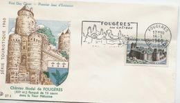 FOUGERES (Yv. N° 1236) 1er Jour; Flamme  SECAP Concordante / 1960 - FDC