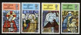 GUERNSEY, 1973, Mint Never Hinged Stamp(s), Christmas, 84-87,  M5135 - Guernsey