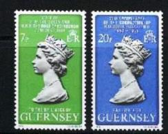 GUERNSEY, 1978, Mint Never Hinged Stamp(s), Royal Visit ,163-164,  M5152a, 2 Values - Guernsey