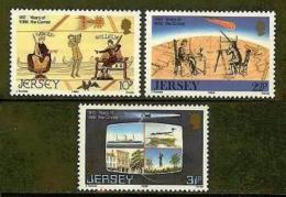 JERSEY, 1986, Mint Never Hinged Stamp(s), Halley's Comet, 374-376   , M4291 - Jersey