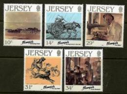 JERSEY, 1986, Mint Never Hinged Stamp(s), Edmond Blampied, 388-392 , M4295 - Jersey