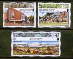 JERSEY, 1986, Mint Never Hinged Stamp(s), Europa Modern Architecture, 405-407 , M4296 - Jersey
